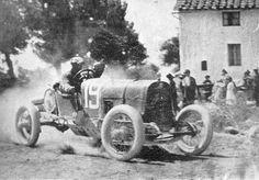 Enzo #Ferrari, second in the 1921 Circuito di Mugello with his Alfa Romeo 20/30 ES