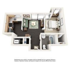 Floor plan 500 sq ft