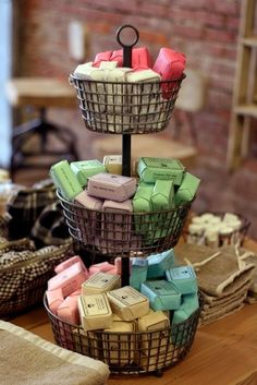 baskets+to+display+soaps | Soap Display -- need for all my soaps from Lush... obsessed/hoarding!