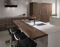Kitchen by Graniterra #walnut #white #contemporary