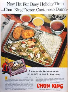 Frozen stereotypes for the busy holidays! Retro Ads, Vintage Advertisements, Vintage Ads, Retro Food, Vintage Food, Vintage Images, 1960s Food, Vintage Cooking, Vintage Gypsy