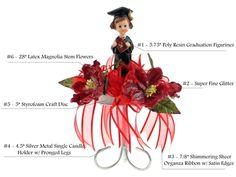 Graduation Centerpiece #002. For more details, please visit our website www.lacrafts.com