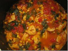 Tortellini Tomato Spinach Soup