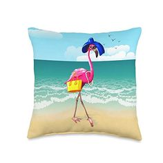 Pearl Maricela Fabulous Pink Beach Crazy Flamingo Lady Gifts Throw Pillow, 16x16, Multicolor Pearl Maricela Room Design Images, Flamingo Gifts, Pink Beach, Pillow Reviews, Best Pillow, Gifts For Women, Throw Pillows, Pearls, Lady