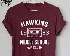 Hawkins Middle School AV Club Tee, Stranger Things Shirt, Stranger Things Tee, Eleven Hopper, ladies Unisex Tee