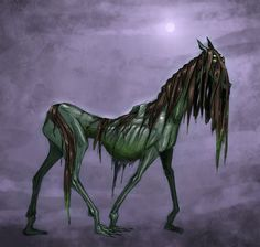 Gytrash- English legend: a benevolent creature that haunts lonely roads awaiting lost travelers. It guides them to the right road. They can take the form of a horse or a mule, but usually of a black dog. Though they are helpful, they are still feared.