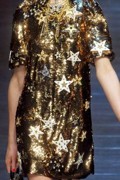 Gorgeous Dolce and Gabbana Star Sequin Dress