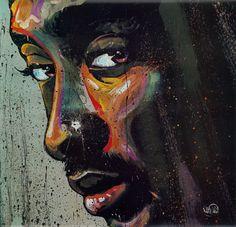 Tupac by David Garibaldi art print Tupac Poster, David Garibaldi, Most Famous Artists, Black Artists, Pretty Cool, Art Forms, Erotica, Original Paintings, Artsy