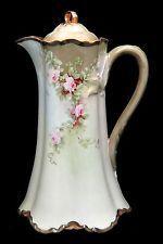 Antique HAVILAND FRANCE Hand Painted PINK ROSES Chocolate Pot Chocolate Cups, Chocolate Coffee, Antique China, Vintage China, Vintage Coffee, Vintage Tea, Tea Pot Set, Tea Sets, Teapots And Cups