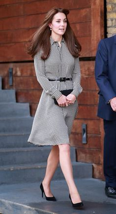 Kate Middleton in a Ralph Lauren shirt dress by the Anne Freud Center