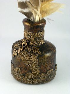 Treasure Ink Bottle - created by Jayne Ayre Kismet Clay Designs www.kismetclaydesigns.blogspot.com
