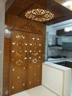 Pooja Door Design Modern 28 Ideas For 2019 Front Door Design Wood, Pooja Room Door Design, Ceiling Design Living Room, Door Design Interior, Wooden Door Design, Home Room Design, House Design, Interior Doors, Main Entrance Door Design