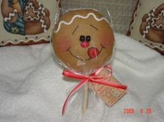 Gingerbread Cookie Pop Ornament EPattern by simplysweetgifts Christmas Gingerbread Men, Gingerbread Ornaments, Gingerbread Decorations, Snowman Ornaments, Gingerbread Cookies, Christmas Decorations, Primitive Christmas, Christmas Goodies, Christmas Treats