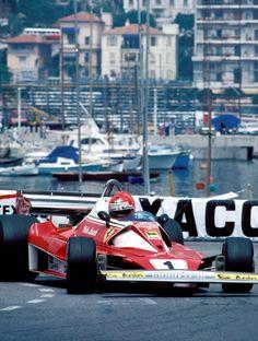 Niki Lauda, Ferrari 312T2, 1976 Monaco GP, Monte Carlo