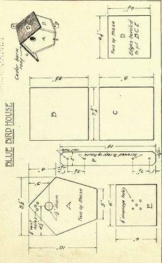 Some cut little birdhouse plans. I am pretty sure that if you print these you could just add a few tabs when you are cutting these out and have yourself some little paper birdhouses. Or you could… Madáretetők, Madarak, Mesterséges Madárodú, Famunka Bird House Plans Free, Bird House Kits, Bird House Feeder, Bird Feeders, Bluebird House, Birdhouse Designs, Bird Aviary, Bird Houses Diy, Wood Bird