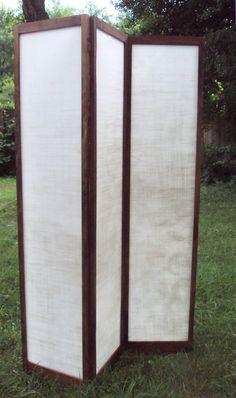 Shoji Screen - she used upcycled cutting mat, I'm going to try something similar