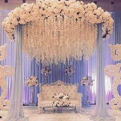 Wedding Hall Decorations, Desi Wedding Decor, Wedding Reception Backdrop, Marriage Decoration, Wedding Mandap, Chic Wedding, Engagement Stage Decoration, Rustic Wedding, Reception Stage Decor