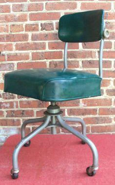 ON SALE Vintage Industrial Office Chair Swivel STEELCASE Mid Century Machine Age. $123.25, via Etsy.