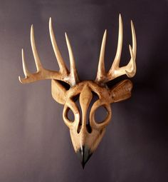 Reverence For Prey Mask wood carving by Jason by jasontennant, $1800.00