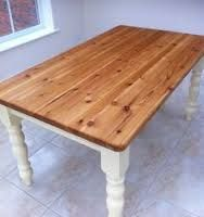 Image result for paint pine table white