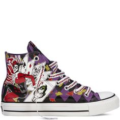Chuck Taylor DC Comics purple
