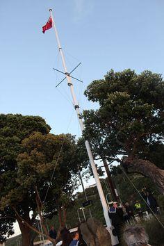 Flagpole at Petone Railway Station