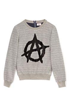 Anarchy Sign Sweatshirt by Ashish Now Available on Moda Operandi