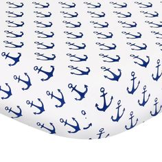 The Peanutshell Fitted Crib Sheet - Anchor - Navy
