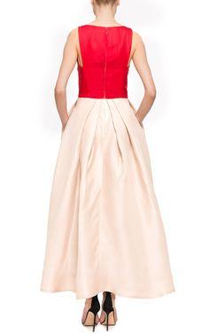 Monique Lhuillier Color-Block Gazar Sleeveless Dress by Monique Lhuillier for Preorder on Moda Operandi