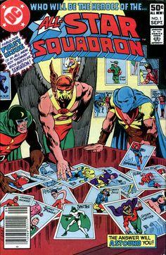 All-Star Squadron #1, September 1981, Pencils: Rich Buckler, Inks: Dick Giordano, Colors: Tatjana Wood