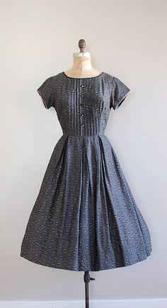 vintage 50s dress / 1950s dress / Guidehall dress by DearGolden, $124.00