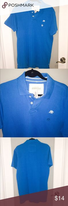 Aeropostale Mens blue pique polo shirt Aeropostale Mens blue pique polo shirt. Brand new with tags. Aeropostale Shirts Polos