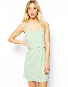 Asos Scallop Layered Cami Dress on shopstyle.co.uk