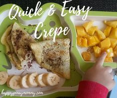 Quick and easy crepe recipe. If uou have no time to make crepe the traditional way,check this recipe out. Makes crepe making easier and more enjoyable too! Easy Crepe Recipe, Crepe Recipes, Fresh Milk, Fresh Fruit, Breakfast Ideas, Breakfast Recipes, Cashew Butter, Non Stick Pan, Toddler Meals