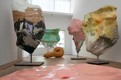 Franz West Perhaps not maps, but similar pieces with papier mache maps would be interesting. MN