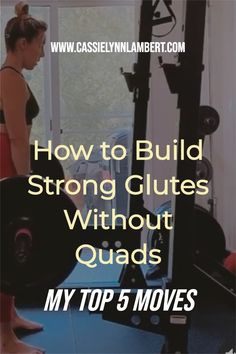 If you are quad dominant or have a desire to grow your glutes WITHOUT adding more size to your quads then exercise selection is critical. I've written a free blog article with my top 5 moves that will teach you how to grow your booty without growing your quads. Weight Lifting Tips, Weight Training, Gain Muscle, Build Muscle, Daily Exercise Routines, Bulk Up, Hip Workout, Muscle Building, Free Blog