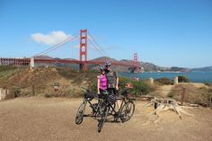 Biking in San Francisco #goldengate #bicycle