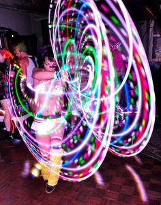 There's just something about an led hoop that makes my heart happy Led Hula Hoop, Led Hoops, Rave Accessories, Light Scattering, Flow Arts, Pretty Lights, Edm, Night Life, Light Up