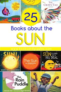 This list of childrens books about the sun includes picture books as well as nonfiction selections, and its organized by age group with a description for each book. #booksandgiggles #childrensbooks #kindergarten #preschool #elementary #booklists
