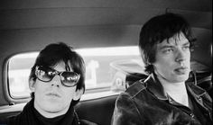 """Keith Richards and Mick Jagger by Gered Mankowitz.-  The Rolling Stones were also instrumental in making blues a major part of rock and roll, and of changing the international focus of blues culture to the blues typified by John Lee Hooker and by Chess Records artists such as Muddy Waters, writer of """"Rollin' Stone"""", the song after which the band is named. American music critic"""