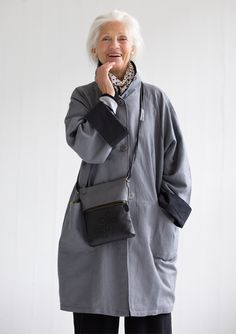 Linen/cotton coat – Top outerwear – GUDRUN SJÖDÉN – Webshop, mail order and boutiques | Colourful clothes and home textiles in natural materials.
