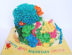 Peppa Pig Nemo Coral cake  by Love to Cake, via Flickr