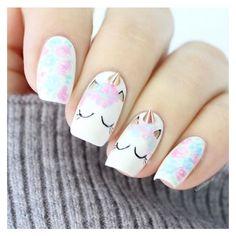 Essas unhas é para quem ama unicórnio!