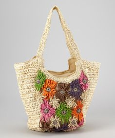 Love this Flower Crocheted Tote on #zulily! #zulilyfinds