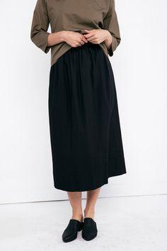 Bel Skirt in Cotton Poplin – Elizabeth Suzann