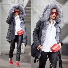 Как стильно носить зимние куртки| Меховая парка на каждый день!