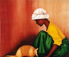 """Tatu"", oil on canvas, by Luciana Teruz - Rio de Janeiro."