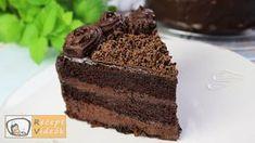 Csokoládétorta (Csokitorta) - Recept Videók recept videó Fondant, Delish, Food And Drink, Recipes, Party, Deserts, Cake Cookies, Bakken, Dessert Ideas