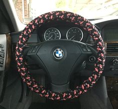 ****My covers now have Grip Stop, a rubber dot fabric for better grip on the steering wheel. This is a safety measure that I felt was needed.    If you want a specific fit please add the diameter of your steering wheel when you place your order. I make my steering wheel covers 48 inches by 4 inches.    I make matching wristlets : https://www.etsy.com/listing/153122082/key-wristlet-to-match-your-steering?ref=shop_home_active    I have a huge basket full of scraps ...