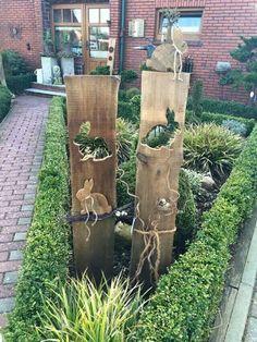 Gartenstelen basteln | Deko Garten Selber Machen Holz | kunstrasen garten